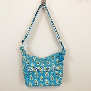 Vera Bradley classic blue & green paisley handbag